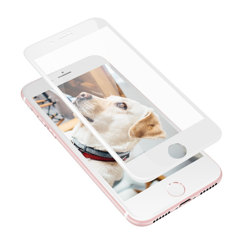 Защитное стекло HARDIZ 3D Screen Cover White (Белая рамка) на iPhone 7/8 Plus (Айфон 7/8 Plus)