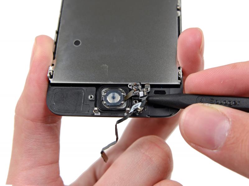 Замена шлейфа кнопки Домой (Home) iPhone 5s
