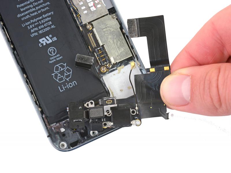 Замена разъёма зарядки (Lightning) iPhone 5s