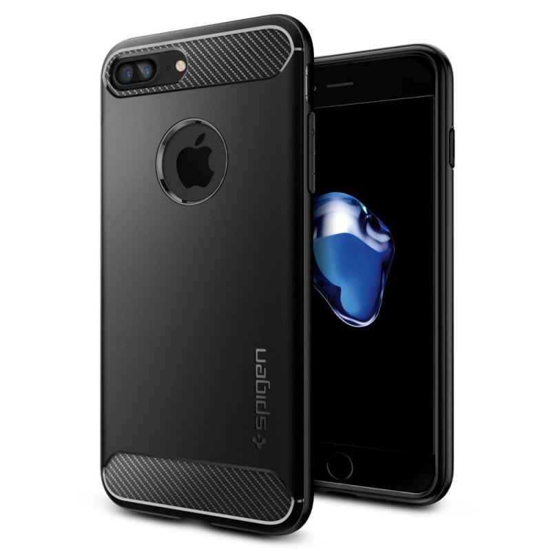 Чехол Spigen (SGP) Rugged Armor на iPhone 7 Plus  - Чёрный