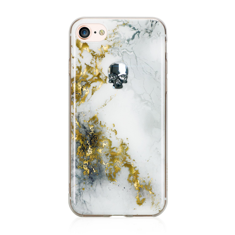 Чехол BMT Treasure Alabaster (Night Skull) на iPhone 7/8 (Айфон) - Белый