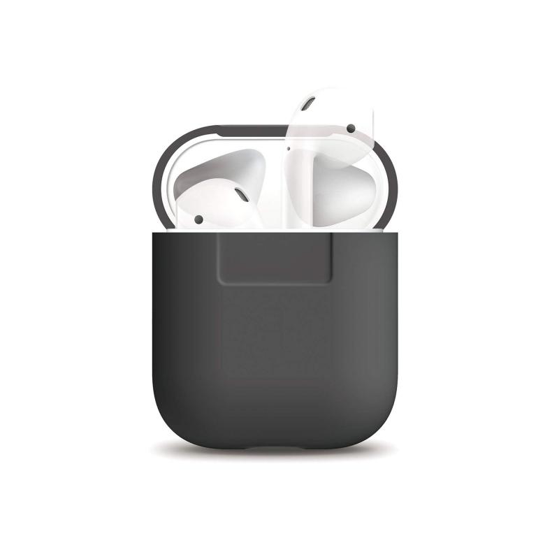 Elago силиконовый чехол для AirPods (Dark Grey)