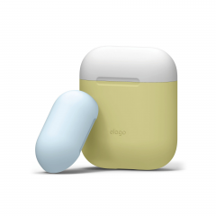 Elago DUO силиконовый чехол для AirPods Цвет (Body-Yellow / Top-White, Pastel Blue)