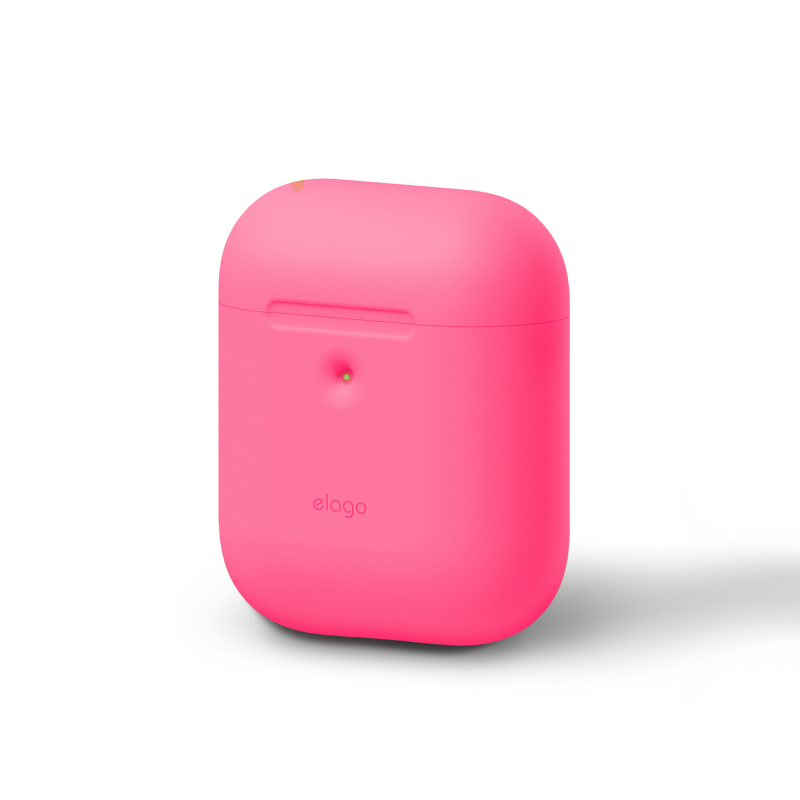 Elago силиконовый чехол A2 для AirPods с возможностью беспроводной зарядки (Цвет Neon Pink)