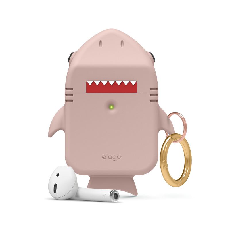 Elago Shark силиконовый чехол для AirPods (Sand Pink)