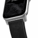 Ремешок NOMAD Modern Strap (Серебристое крепление) для Apple Watch (Черный)