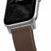 Ремешок NOMAD Modern Strap (Серебристое крепление) для Apple Watch (Коричневый)