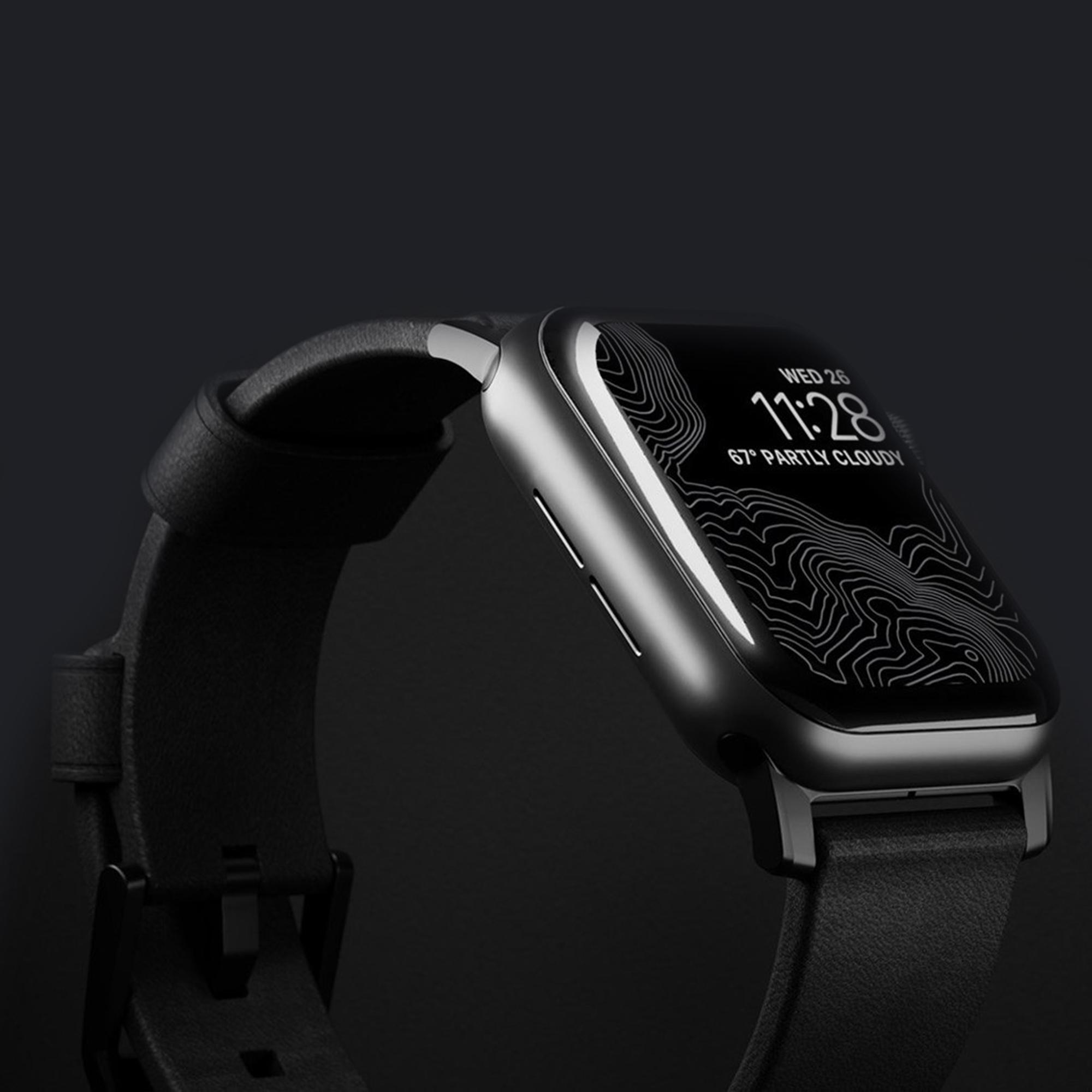 Ремешок NOMAD Modern Strap (Черное крепление) для Apple Watch (Черный)