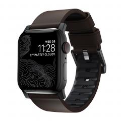 Ремешок NOMAD Active Strap Pro (Черное крепление) для Apple Watch (Classic Brown)