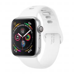 Силиконовый ремешок Spigen Air Fit для Apple Watch (Белый)