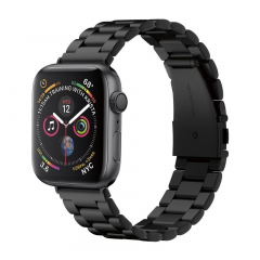 Ремешок из нержавеющей стали Spigen Modern Fit для Apple Watch (Черный)