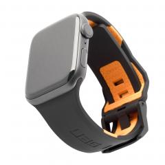 Силиконовый ремешок UAG Civilian для Apple Watch 42mm / 44mm (Black / Orange)