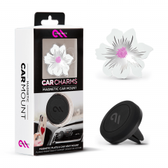 Автомобильный держатель c магнитным креплением Case-Mate Car Charms (White Flower)