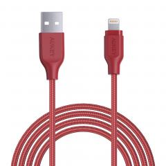 AUKEY Braided Nylon MFI Lightning to USB 2m. (Красный)