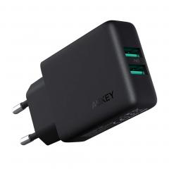 Адаптер питания AUKEY 24W Dual-Port (GaN)