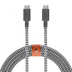 Кабель Native Union Belt Cable USB-C to USB-C 3m. (Zebra)