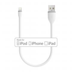 Кабель Satechi Flexible MFI-Certified Lightning to USB 25cm (White)