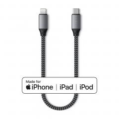 Кабель Satechi USB-C to Lightning 25cm. (Space Gray)