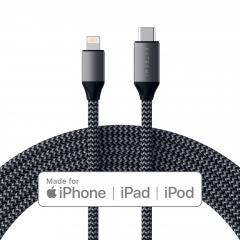 Кабель Satechi USB-C to Lightning 1.8m. (Space Gray)