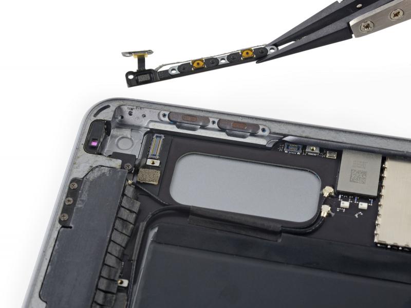Замена шлейфа кнопок громкости iPad Air 2