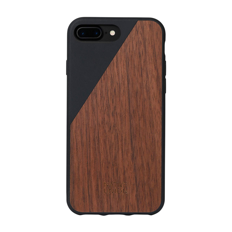 Чехол Native Union Clic Wooden на iPhone 7 Plus / 8 Plus – (Цвет - Black)