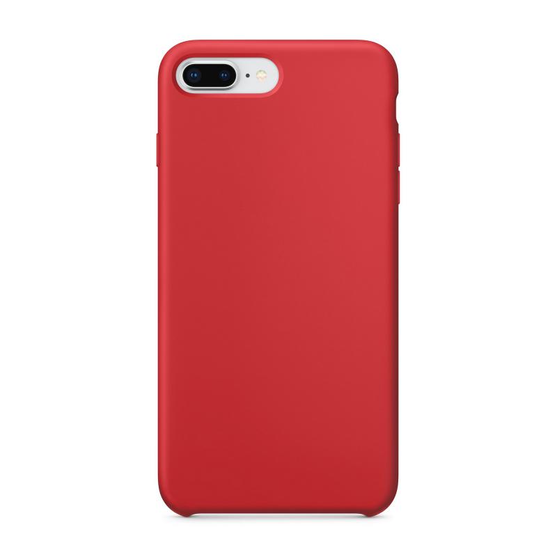"""Чехол силиконовый на iPhone 7 Plus / 8 Plus – (Цвет - """"Красный"""")"""