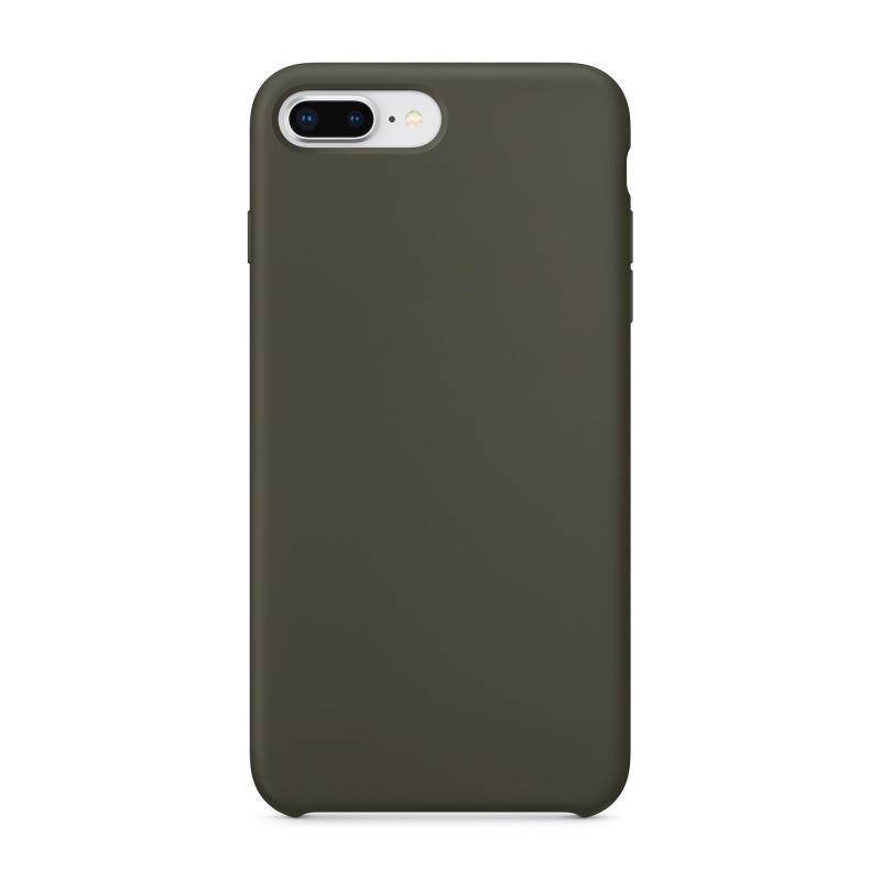Чехол силиконовый на iPhone 7 Plus/8 Plus - Оливковый