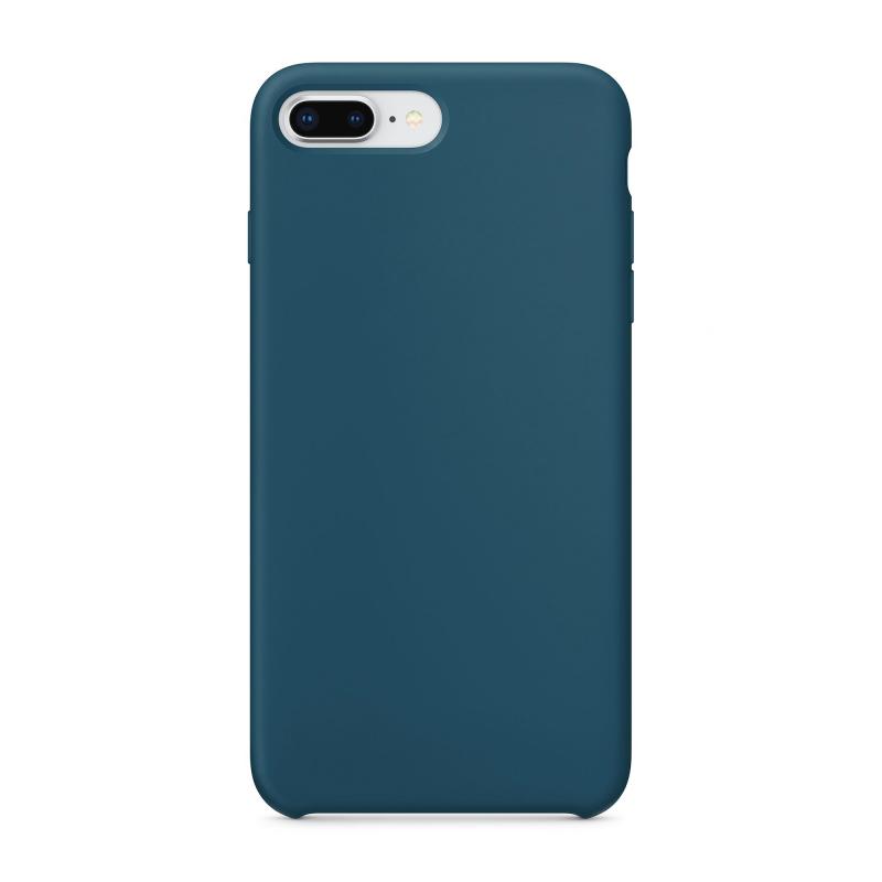 Чехол силиконовый на iPhone 7 Plus / 8 Plus – (Цвет - Космический синий)