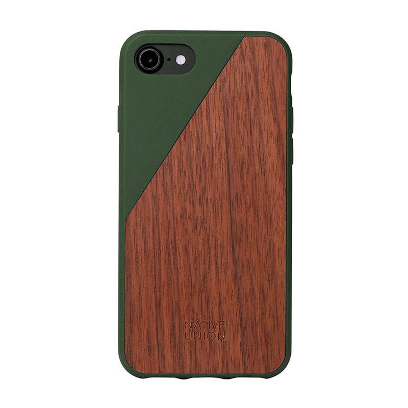Чехол Native Union Clic Wooden на iPhone 7 / 8 – (Цвет - Olive)
