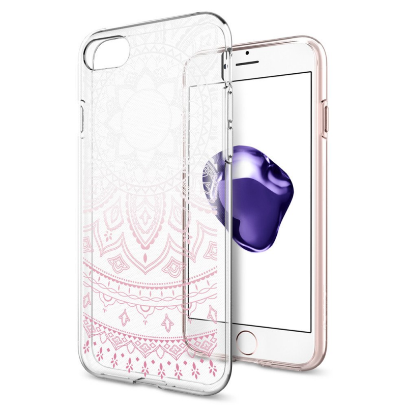 Чехол Spigen (SGP) Liquid Shine на iPhone 7  - Прозрачный/Розовый