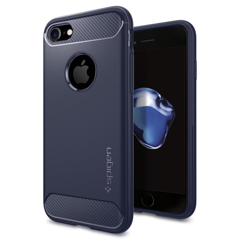 Чехол Spigen Rugged Armor Midnight Blue на iPhone 7 – (Цвет - синий)