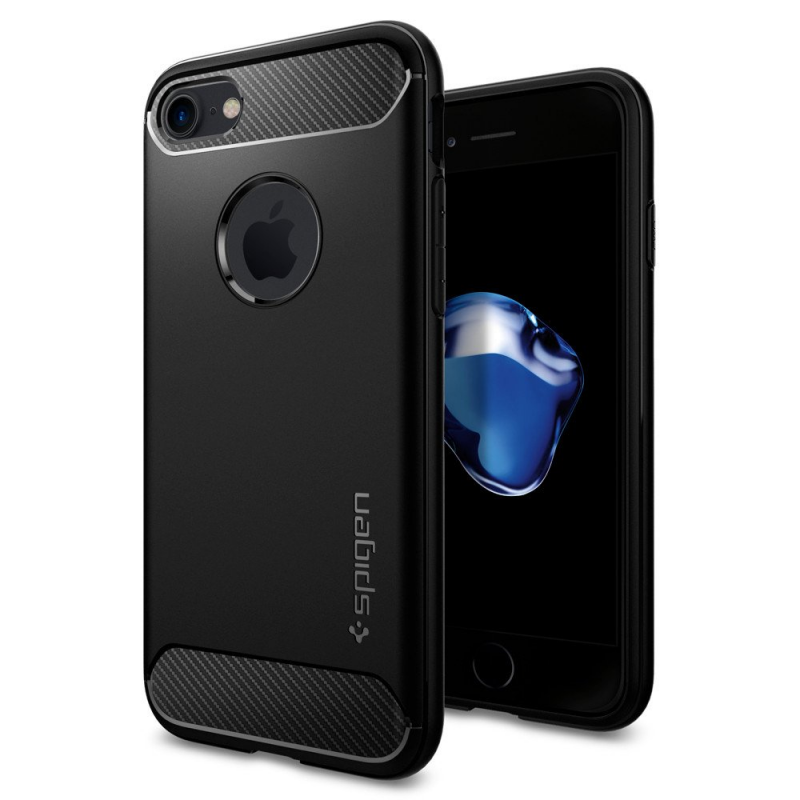 Spigen Rugged Armor Black для iPhone 7