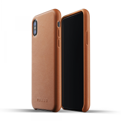 Mujjo Full Leather Case для iPhone X / Xs (Коричневый)
