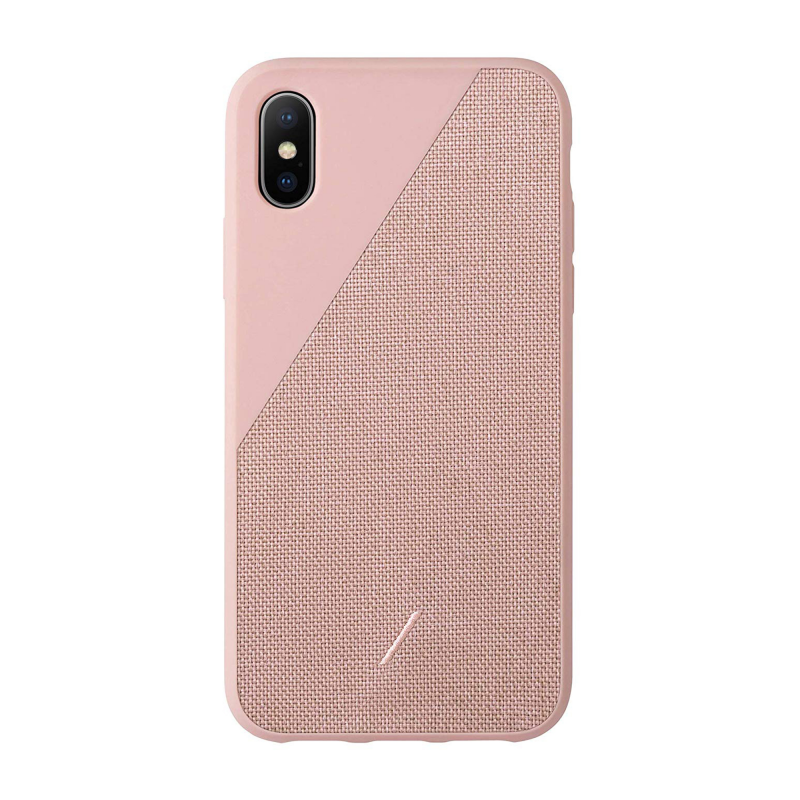 Чехол Native Union Clic Canvas на iPhone Xs Max – (Цвет - Rose)