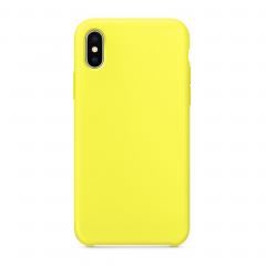 Силиконовый чехол для iPhone X (Цвет - желтый)
