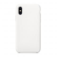 Силиконовый чехол для iPhone X (Цвет Белый)