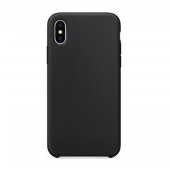 Силиконовый чехол для iPhone X (Цвет Черный)