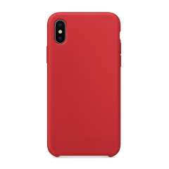 Силиконовый чехол для iPhone X (Цвет Красный)