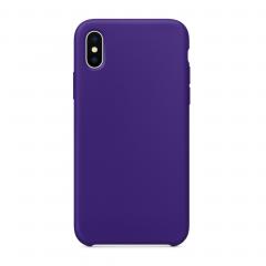 Силиконовый чехол для iPhone X (Цвет Фиолетовый)