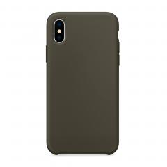 Силиконовый чехол для iPhone X (Цвет Оливковый)