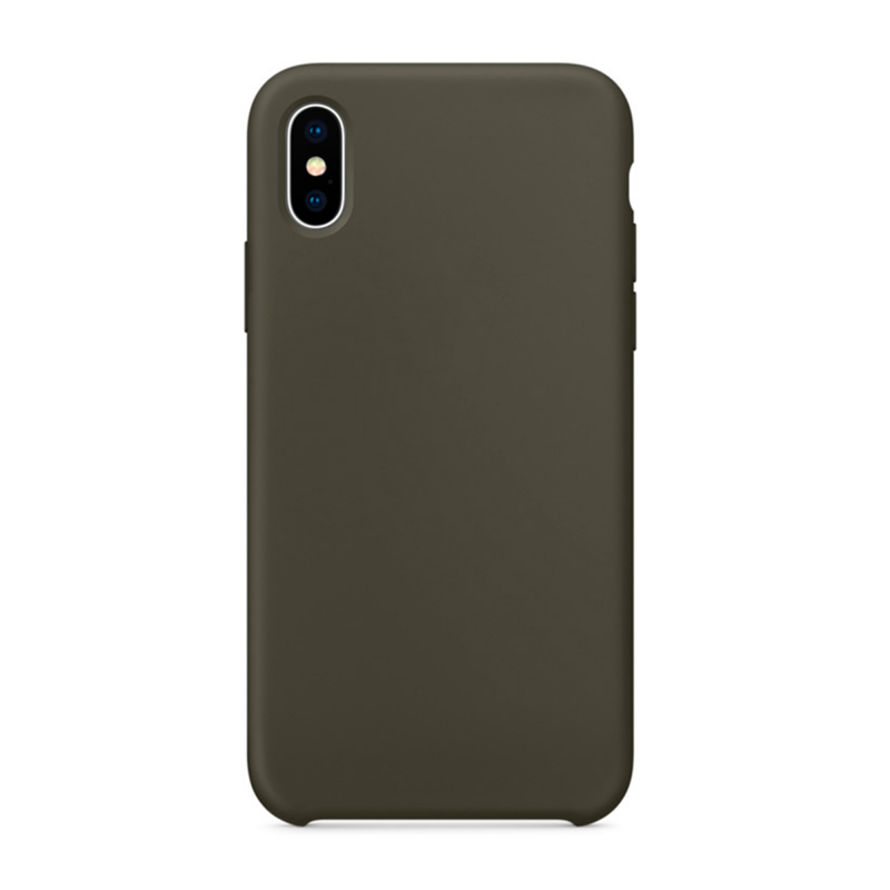 Чехол на iPhone X (Цвет - Оливковый)