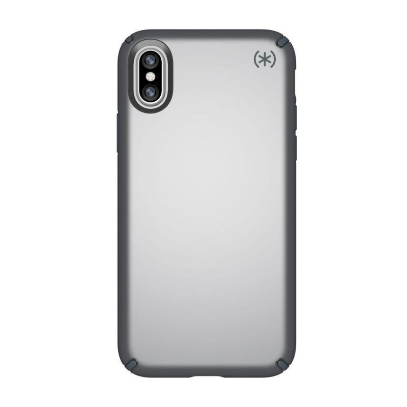 Чехол Speck Presidio Metallic на iPhone X – (Цвет - Tungsten Grey Metallic/Stormy Grey)