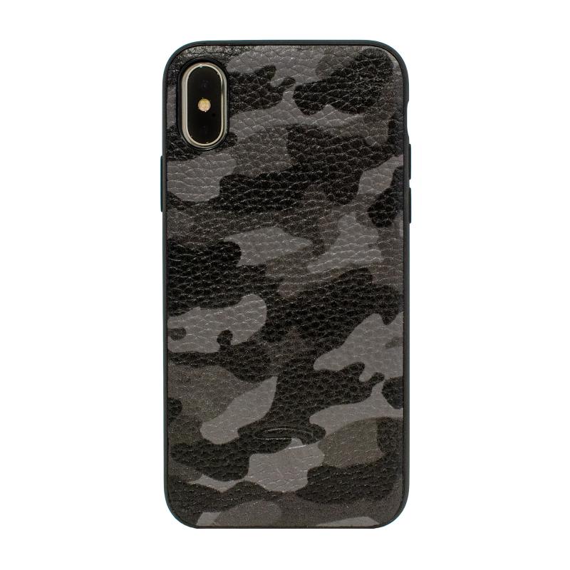 Чехол TORIA Camouflage на iPhone X/Xs - Серый/Камуфляж
