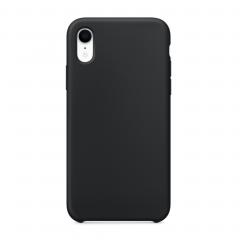 Силиконовый чехол для iPhone XR (Цвет Черный)