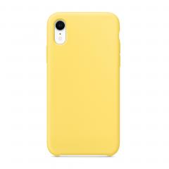 Силиконовый чехол для iPhone XR (Цвет Канареечный)