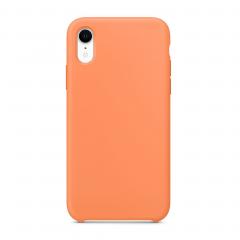 """Силиконовый чехол для iPhone XR (Цвет """"Свежая папайя"""")"""