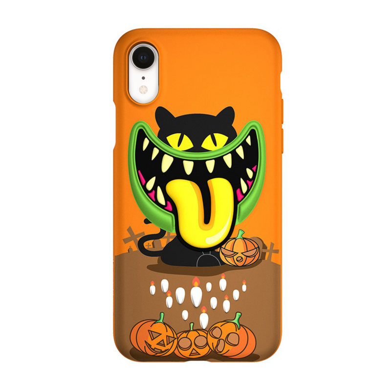 "Чехол SwitchEasy Monsters для iPhone Xr (Цвет ""Привидение"")"