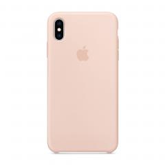 Apple Силиконовый чехол для iPhone Xs Max (Цвет Розовый песок)