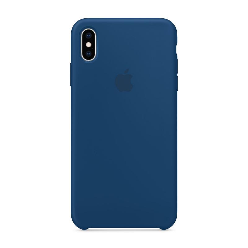 Чехол Apple на iPhone Xs Max  - Синий/Морской