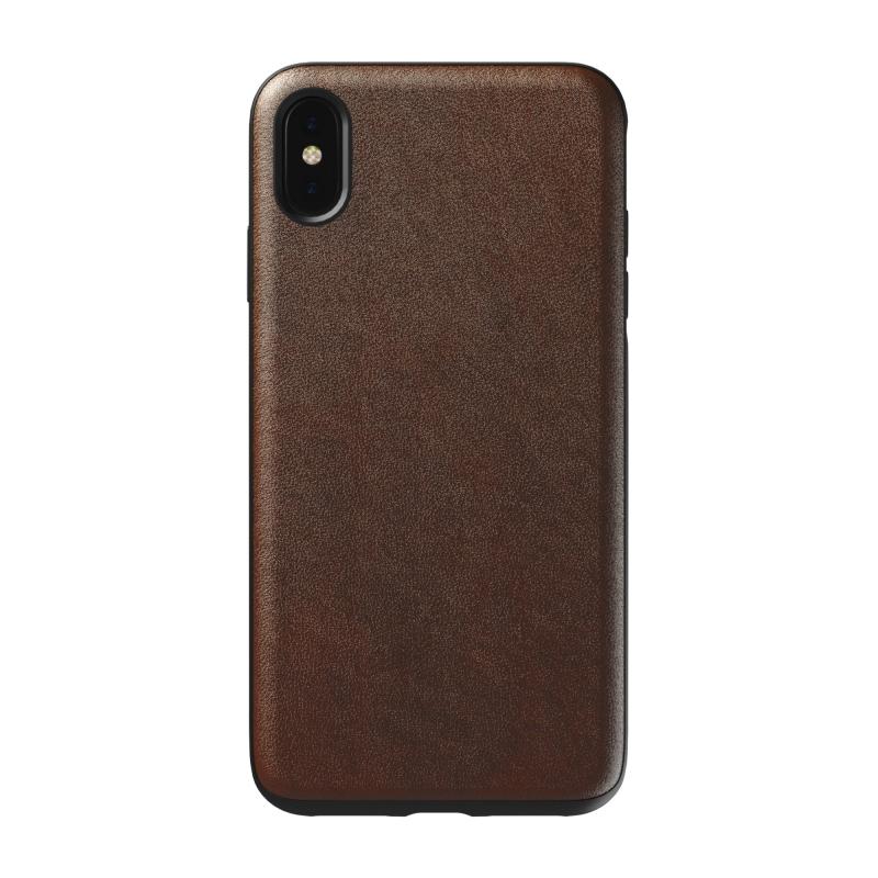 Чехол NOMAD Rugged Case на iPhone Xs Max – (Цвет - Коричневый)
